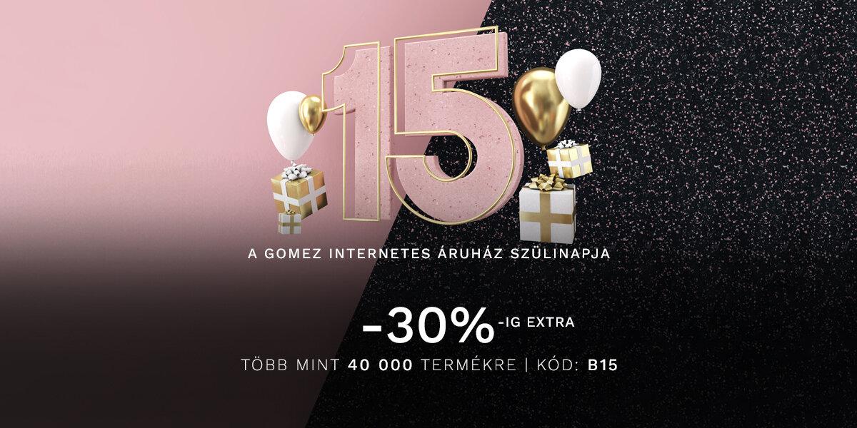 A Gomez internetes áruház 15. szülinapja